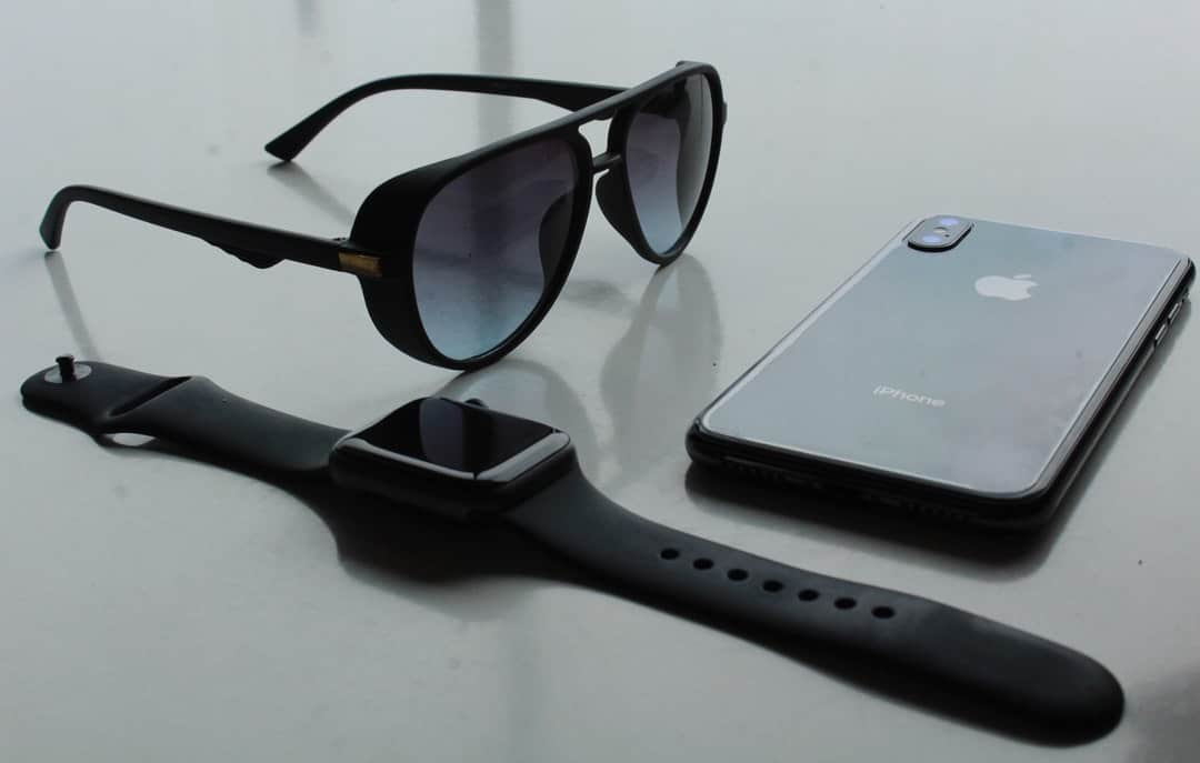 A pair of sunglasses on a table