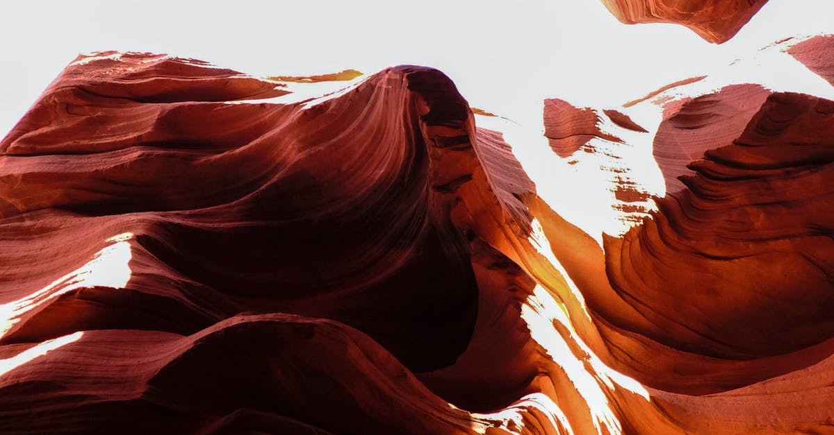A bed in a canyon